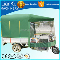 Electric tricycle rickshaw with fiber roof for Indian market