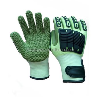 Rubber Anti-vibration Work Gloves Cut Resistant Glove