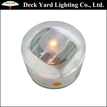 Mini Solar LED Deck Lighting Round Low Voltage LED Floor Lamp Kits