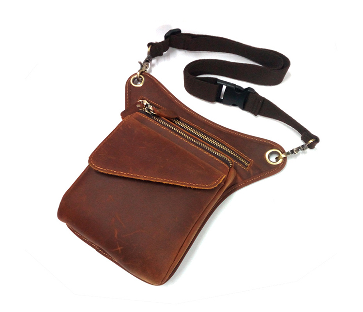 bb013 Wholesale Crazy Horse Genuine Leather Leg Bag