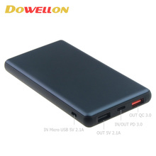 Latest 10000mAh 37Wh 30W PD Power Bank USB TYPE-C QC 3.0 Quick Charger for Mobile phone
