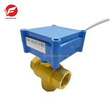 Brass Mini Dimension Motorized 3-way Valve Ball For Small Equipment