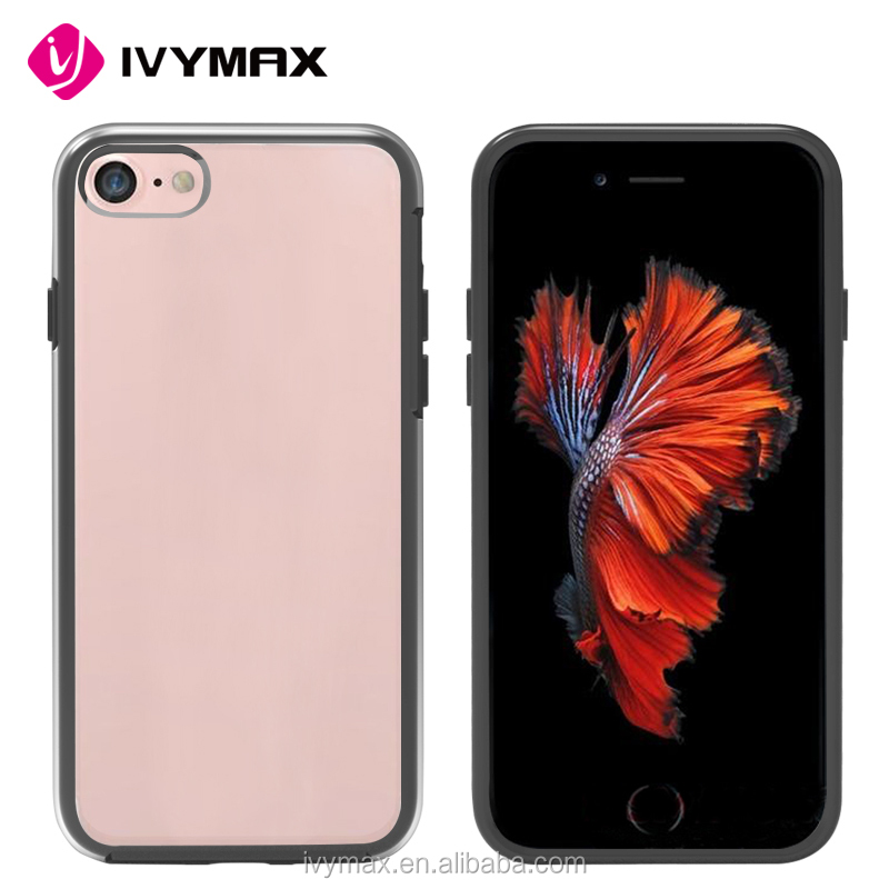 wholesale china factory crystal transparent pc and tpu material bumper phone case for apple iphone 7