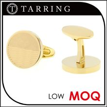 Tarring Jewelry gold mens blank cufflinks with high quality plating