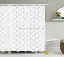 White Custom Printing Plastic Fancy Gravure printing Custom Shower Curtains