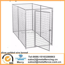 6 ft H x 5 ft W x 10 ft L Silver Dog Modular Welded Wire Kennel Kit