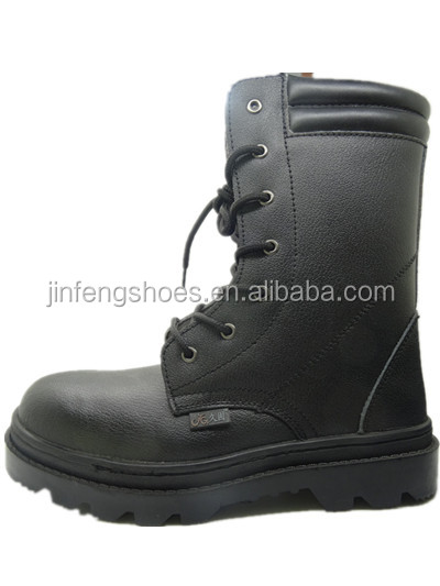 steel toe cap steel plate rubber sole black military boots&army boots safety boots price