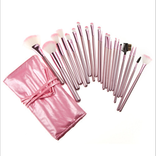 22pcs pink handle makeup brush sets morado kit customer logo for maquillaje