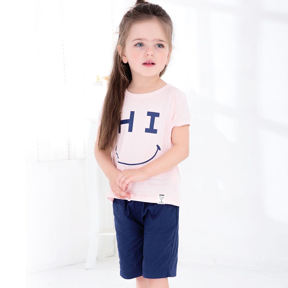 2017 summer Casual children clothing sets little girls boutique remake clothing sets