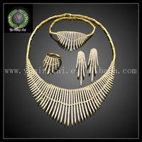 African fashion ladies jewellery gold plated sets Big Jewelry set FHK985