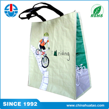 Fugang China Wholesale PP Woven Laminated Simple Style Riding Shopping Bags