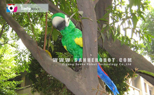 Outdoor theme park Great Quality animatronic Animal Animatronic Simulation Life Size parrots