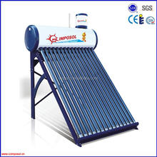 vacuum tubes rooftop solar hot water heater for industrial use
