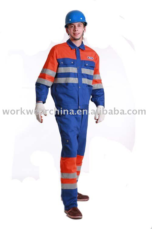 100% Cotton Flame Retardant Protective Clothing with Reflective Tape