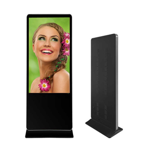 Floor Lcd Advertising Display Kiosk Free Standing
