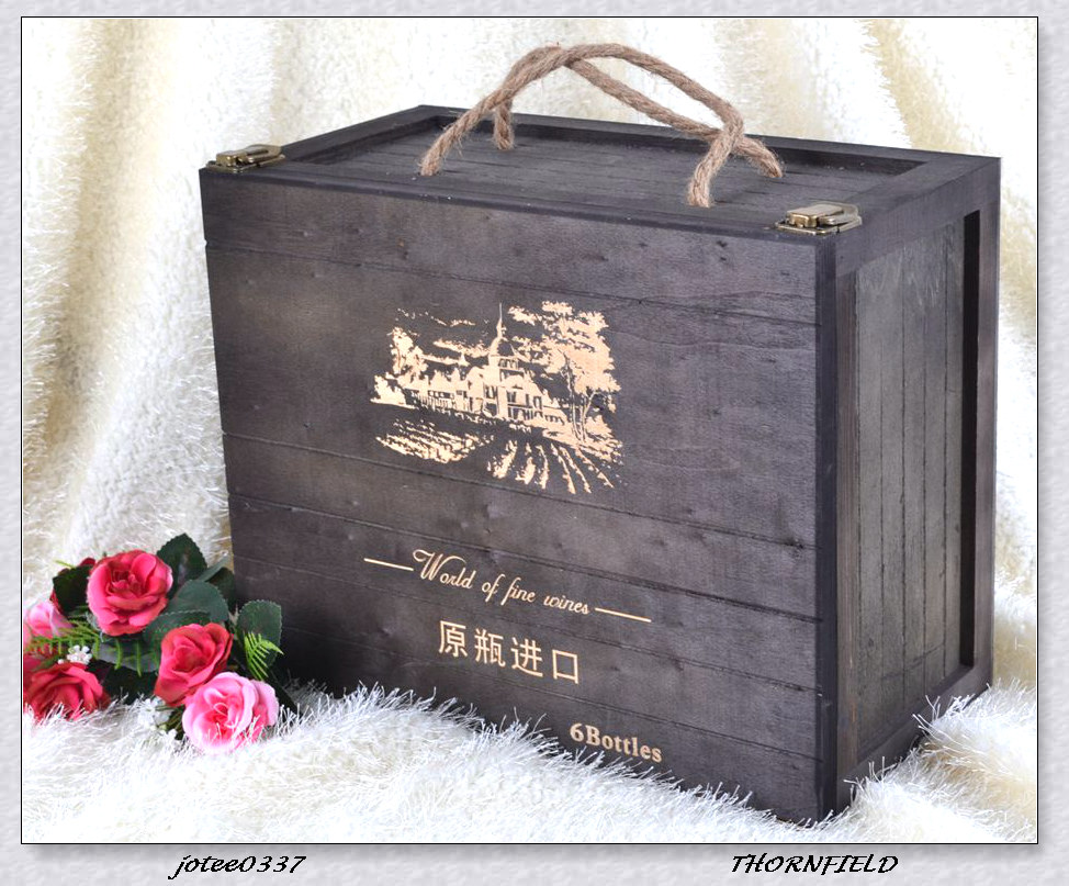Hot Sale Wood Wooden Packing Box for Wine