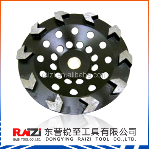 Arrow diamond cup grinding wheels for concrete