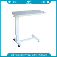 ABS material AG-OBT002 hospital dinning table adjustable bed tray