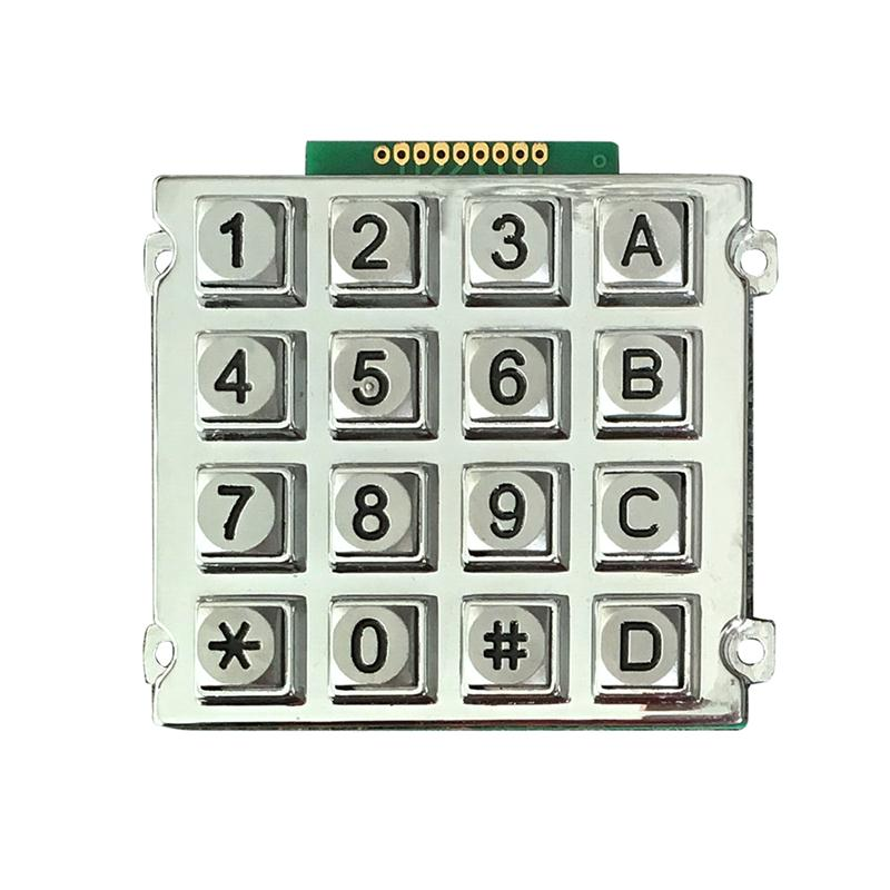 B512 zinc alloy keypad with 16 keys for home <strong>appliance</strong>