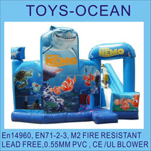 ocean world inflatable bounce with slide ,fantastic ocean theme combo,4 in 1 bounce