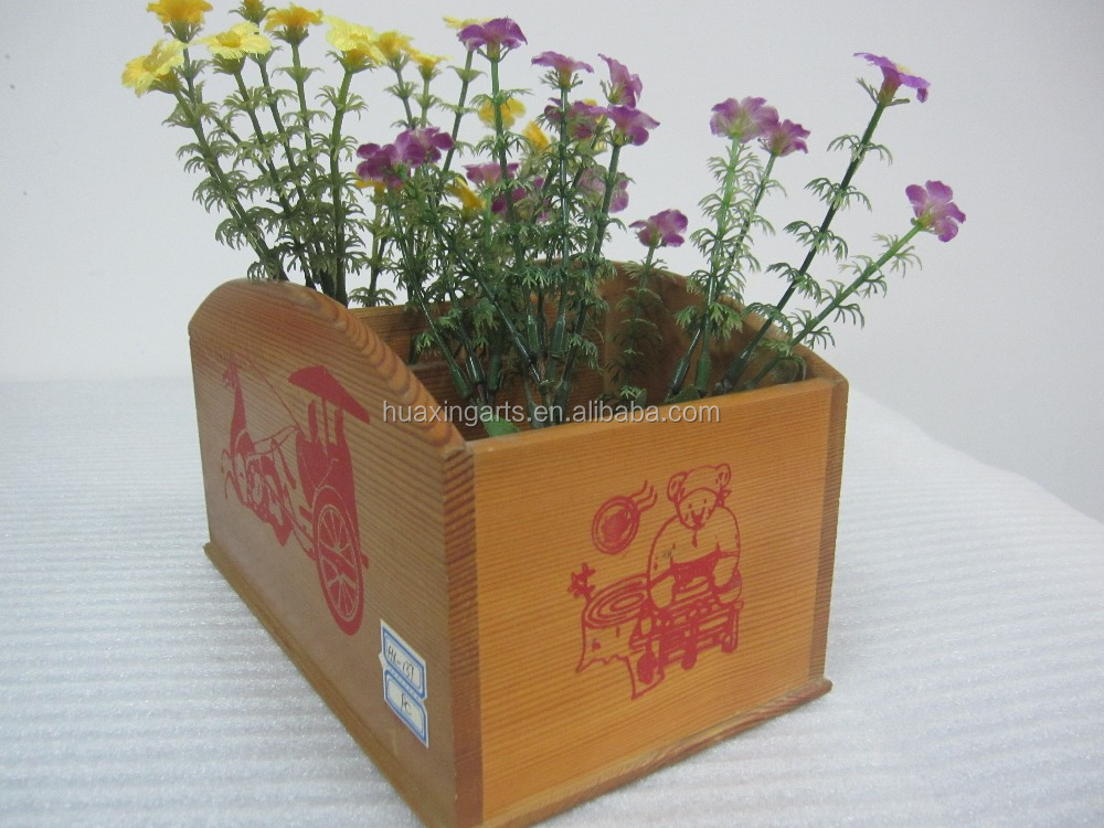 Cheap Wooden Flower Containers Wooden Pots and Planters Wooden Garden Pots