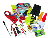 car emergency tool set with booster cable