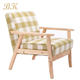 Home Furniture Fabric Single Wooden Sofa Chair In Modern Style Leisure Chair
