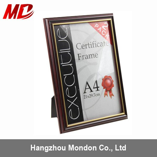 Promotion cheap White A4 PVC Cheap Picture Frames Diploma Frames wholesale