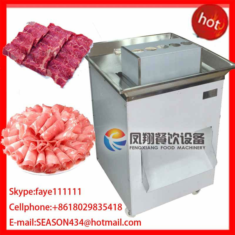 QW-8 stainless steel automatic meat slicing cutting chopping machine for western restaurant