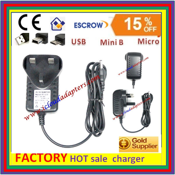 UK 3Pin Mains Power Adapter 5V 3A Micro USB Charger
