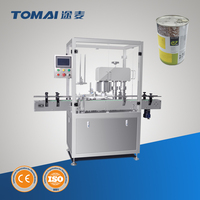 Coffee powder filling and can seaming line