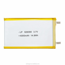 High quality rechargeable battery 3.7v 4000mah batterie pack