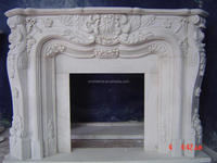 White Marble Stone white marble cheap electric /electrical fireplace Matel