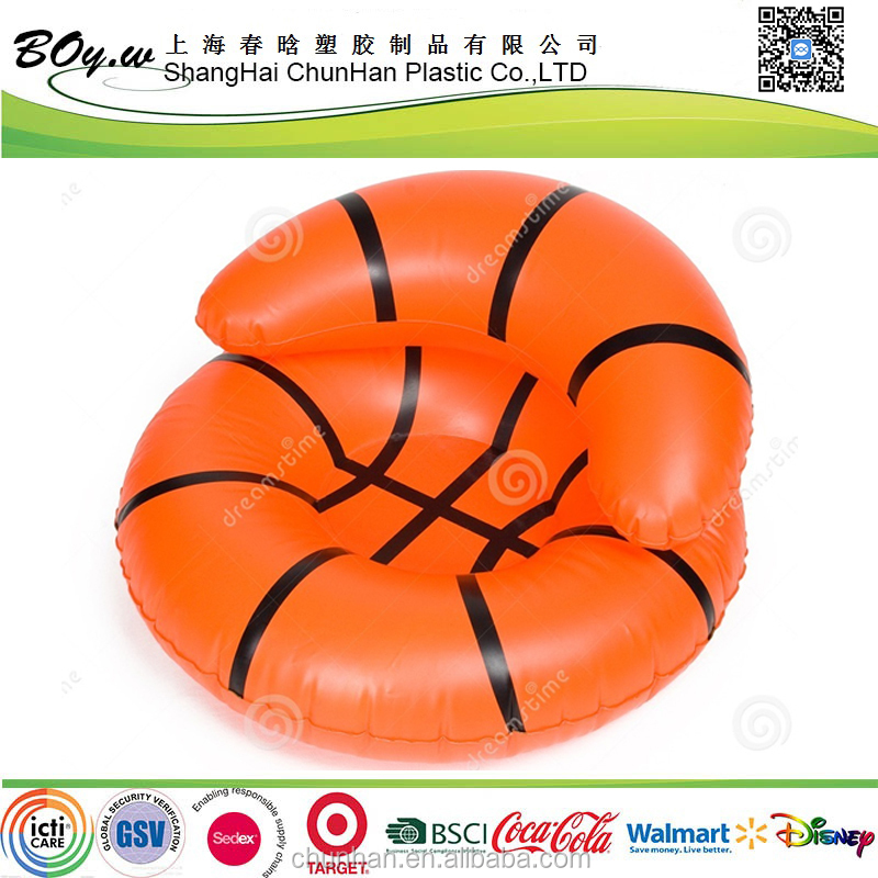 EN71 6P PVC inflatable outdoor sofa pvc plastic sofa
