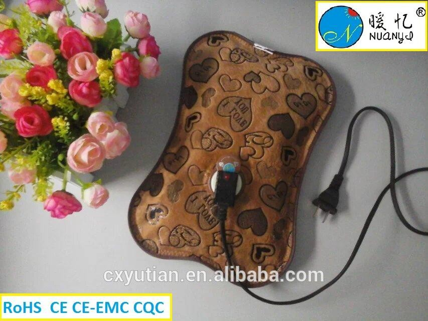 Cixi electric rechargeable hot water bag hot-water bag hot-water bottle with CE and ROHS certification