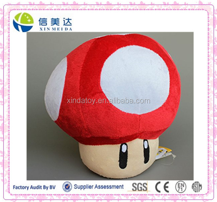 Super Mario Plush 22cm Red Mushroom Doll Stuffed Animals Soft Figure Anime Collection Toy