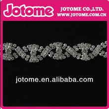 Wave Line Shaped Empty Crystal Rhinestone Cup Chain Trimming 12mm For Clotohing/Garmetn