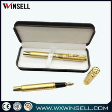 2016 new design metal fountain pen with gold pen nibs