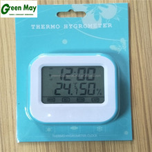 Latest Decorative screen touch indoor LED digital thermometer and humidity