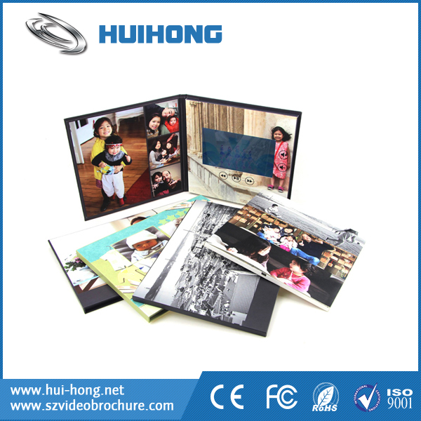 HD Digital Touch Screen Customized Colorful printing festival video brochure