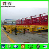 High quality truck spare parts skeleton semi trailer with best trailer tire