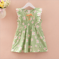 W71947G 2016 summer dress cheap flower girl dress baby cotton frocks designs korean style