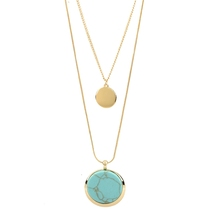 High quality Gold Chain necklace with stone