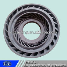 Water Pump Impeller for pump parts iron casting impeller