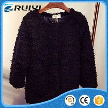 fashionable new style women's clothes synthetic fur winter coat