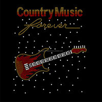 Beautiful Guitar Rhinestone Transfer Designs FY 52 (1)