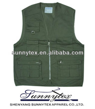soft shell zipper front usful multipocket colorful vest photographer