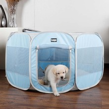 Folding portable indoor collapsible waterproof nylon mesh pet dog cat easy house play tent