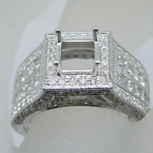 Antique Engagement Rings Princess Cut 5.5mm Cut 14K Gold Baguette Diamond Rings For Men's Jewelry SR0261A