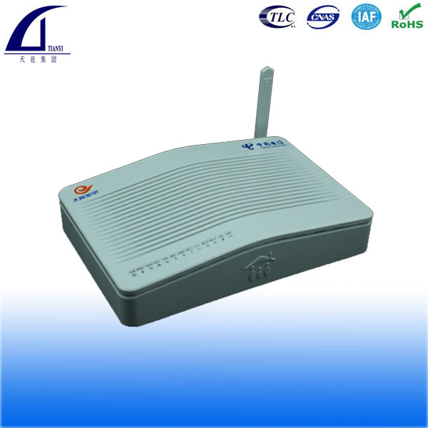 4FE + 2VOIP/POTS + Wifi, compatiable with Huawei, ZTE OLT FTTH ONT